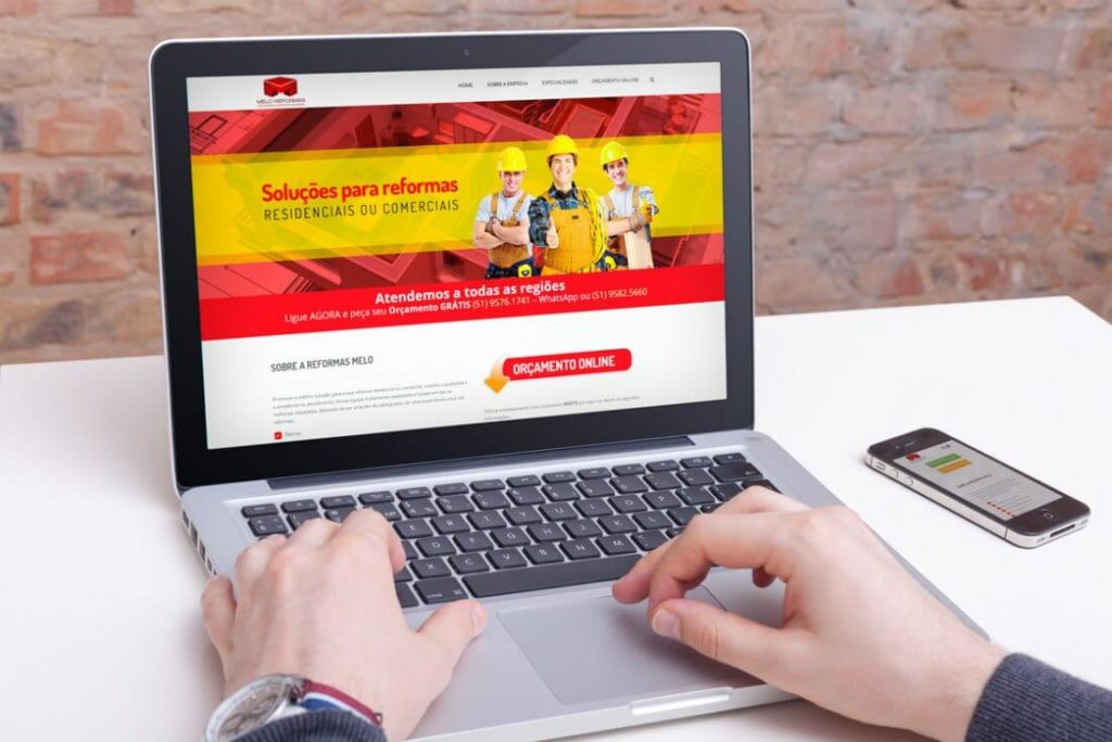 Web Site da Reformas Melo